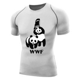Chair Sleeves Australia - Wwf Wrestling Shirt For Men Compression Shirt Short Sleeve Wwf Panda T Shirt Bodybuilding Tops Base Layer Wwf T-shirt Chair Funy J190427