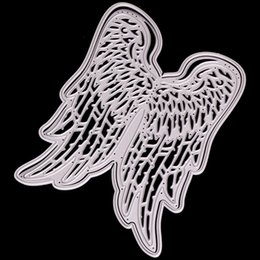 wholesale resin wings NZ - Craft Metal Cutting Dies Cut Die Angel Heart Wings Decoration Album Paper Card Craft Embossing Die Cuts Other Decorative Stickers