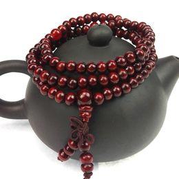 $enCountryForm.capitalKeyWord Australia - 6mm Natural Sandalwood Buddhist Buddha Meditation 108 beads Wood Prayer Bead Mala Bracelet Women Men jewelry