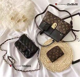 Shop Leather Bag Australia - Designer Handbags Brand Bag Paris Real Leather Luxury Handbags Shopping Bag Shoulder Bag Fashion Clutch Bags Wallet Purse 1 Piece=3 bags L25