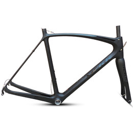 Wholesale last 53 54 56 59cm New carbon road bike frame road cycling bicycle frameset brand frame clearance with fork carbon