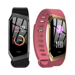 $enCountryForm.capitalKeyWord NZ - E18 Smart Band 2019 Color Touch Screen Ip67 Waterproof Blood Pressure Oxygen Heart Rate Monitor Sport Bracelet Talk Band Mi 2 3