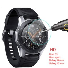 SamSung S2 Screen protector online shopping - Galaxy watch mm For Gear S3 Samsung Galaxy watch mm Gear Sport band S2 Screen Protector H D S Frontier Tempered glass