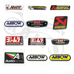 $enCountryForm.capitalKeyWord Australia - 3D Aluminum Heat-resistant Motorcycle Exhaust Pipe Decal Sticker For Yoshimura Akrapovic MIVV Leovince Two Brother Arrow