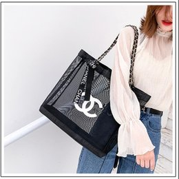 Wholesale Summer Transparent Mesh Women Handbags High Street Female Brand Shoulder Bags Party Personality Gifts Lady Hand Bags