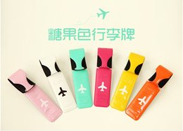 airplane bags NZ - 200pcs lot 2016 Newest 6 style Fashion Colorful Alife Basic Flight Travel Luggage Name Tag Baggage Airplane Luggage Label Bags PVC