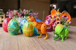 $enCountryForm.capitalKeyWord Australia - 12PCS  Lot Dinosaur World Dinosaur Egg Deformed Ultraman Funny Easter eggs Help children explore unknown toys