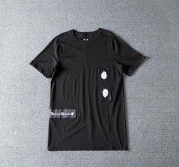 2019ss Homens Cotton T-shirt Tops Tees Owen Gothic Mulheres Preto Verão T-shirt branca Ro venda por atacado