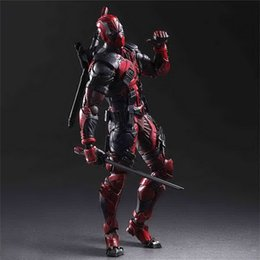 movable joints action figure NZ - joint Action Figure The Avengers Deadpool joint movable figure face hand model toy X-Men X Ryan small gray children gift