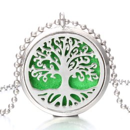 $enCountryForm.capitalKeyWord Australia - Aromatherapy Essential Oil Diffuser Necklace Love Tree of Life Flowers Pendant Locket Silver perfume Necklaces Jewelry