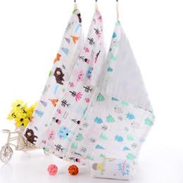 $enCountryForm.capitalKeyWord Australia - High Quality Natural Safety Cute Six Layers Long Cotton Gauze Microfibre Baby Napkin Bibs Baby Face Towel Saliva Towel Cotton