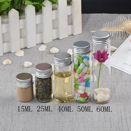 Perfume 25ml NZ - Glass Bottles Screw Top Empty Jars Vial 15ml 25ml 40ml 50ml 60ml Candy Vanilla Pill Food Perfume Bottle Metal Cap 12pcs