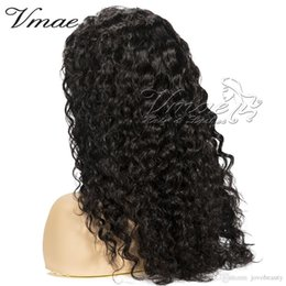full cuticle virgin human hair NZ - Indian Virgin 130 150 Density Natural Black Cuticle Aligned 10 To 26 Inch Curly Wigs Customized Kinky Curly Human Hair Full Lace Wig