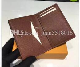 $enCountryForm.capitalKeyWord Australia - Excellent Quality Pocket Organiser Nm Damier Graphite M60502 Mens Real Leather Wallets Card Holder N62155 N62155 Purse Id Wallet Bifold Bags