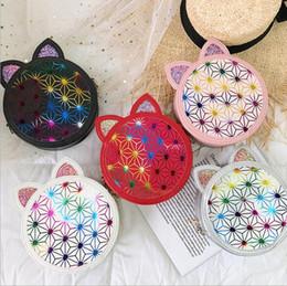 Cat bag wholesale online shopping - Handbags Sequin Cat Ear Purse Round Cartoon Bag Girls Coin Phone Pouch Bag Chain Glittler Shoulder Crossbody Bags Fashion Shopping Bag LT722