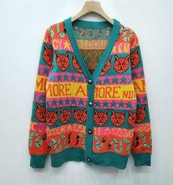 New 19ss Designer Sweater Pullover women Brand Pentagon snake Cat cartoon  pattern Long Sleeve Luxury Sweatshirt Autumn Knitwear 5eafe47f6