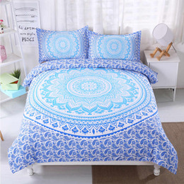 $enCountryForm.capitalKeyWord UK - Thumbedding Dropship Blue Flowers Bedding Sets Bohemia Design 3D Duvet Cover Set 100% Microfiber Colorful Bed Set