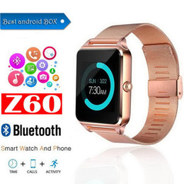 $enCountryForm.capitalKeyWord Australia - Z60 Bluetooth Smart Watch Support SIM TF Card Multifunction Watch Stainless Steel For IOS Android With the Retail Box