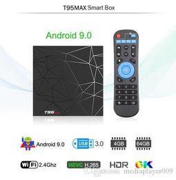 T95 Max Android 9.0 TV Box 4GB+64GB Smart Allwinner H6 Quad Core 6K HDR 2.4GHz Wifi