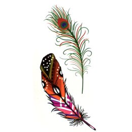 01fbb7d4f Flash Arms UK - Peacock feather Waterproof Temporary Tattoos men Fake Arm  Tattoo sleeve body art