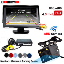 SenSor Speaker online shopping - Koorinwoo Core CPU System AHD Car Parking Sensors Radar Adjustable Speaker Car Monitor Camera Rear Parking Camera Backup