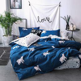 bear sheets sets 2019 - Home Textile Cartoon Polar bear Bedding Sets Children's bedclothes Bed Linen Duvet Cover twin queen king Bed Sheet