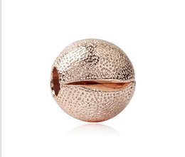 $enCountryForm.capitalKeyWord UK - Fit Sterling Silver Bracelet Anti-Drop-Clip Rose GoldEuropean Stopper Clips Lock Charm 3mm Hole Beads Fits pandora Bracelet jewelry findings