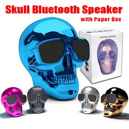 $enCountryForm.capitalKeyWord Australia - Makescc Style Skull Head Shape Portable Wireless Bluetooth Speaker Super High quality bluetooth Speakers Rechargeable Battery Music Player