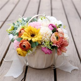 artificial flowers bouquet for birthdays Canada - New 15*22cm Artificial Gerbera Flowers 1 Bouquet Hand Tied Silk Flowers For Wedding Bridal Birthday Party Home Decoration Supply