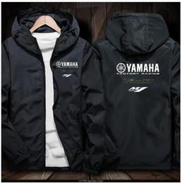 Venta al por mayor de 2019 motocicleta yamaha chaqueta sudaderas con capucha casual hombres cremallera sudadera hombre chándal chaqueta