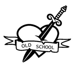school glue NZ - 16*13.5cm Old School With Sword & Heart Funny Car Window Bumper Novelty JDM Drift Vinyl Decal Sticker