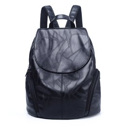 $enCountryForm.capitalKeyWord UK - W&M Women Backpack Black leather soft Backpack Fashion PU Leather Travel Bag Casual School Bag For Teenagers
