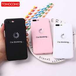 $enCountryForm.capitalKeyWord Australia - TOMOCOMO For iPhone 8 8Plus X 7 7Plus Soft TPU Silicone Matte Case Girl Sticker Memes Cool Quote Funny Words For XS Max X XR