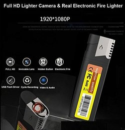 Lighters Videos Australia - Full HD 1080P Mini lighter camera M8 No hole USB disk Mini DV Lighter DVR Camera digital Video Recorder Pocket Camcorder