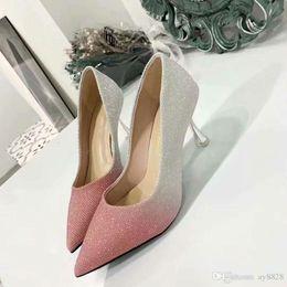 PurPle glitter stilettos online shopping - New Fashion Luxury Designer Shoes Women s High heeled Shoes Leather making Original box sending Heel height cm Size