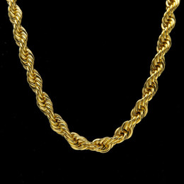 $enCountryForm.capitalKeyWord Australia - 2018 19 JewelryStore999 2017 hot 10mm Thick 76cm Long Rope Twisted Chain 24K Gold Plated Hip hop Twisted Heavy Necklace For mens