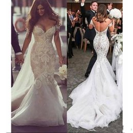 $enCountryForm.capitalKeyWord Australia - Sexy Lace Mermaid Wedding Dresses 2019 Appliques Sweetheart Off Shoulder Blackless Plus Size Fashion Bridal Gowns