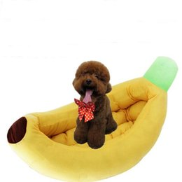 cute pet beds Australia - Cute Banana Dog Bed Pet For Small Dogs House Pet Mat Puppy Cat Bed Sofa Cushion Soft Pet Sleeping Bag Kennel Funny