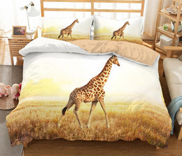 Horse duvet covers online shopping - 3D Animal Bedding Set Bedclothes Duvet Cover D Giraffe Elephant Turtle Swan Lion Horse Wolf Zebra Polar Bear Animal