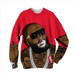 Trade digiTal online shopping - 19ss Foreign Trade New Explosion Foreigner Hip hop Singer Loose D Digital Printed Hatless Guard for Men and Women
