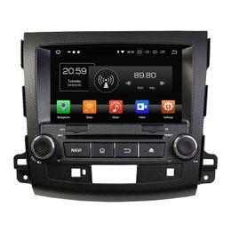 "Mitsubishi Gps Dvd Australia - 4GB RAM 64GB ROM Octa Core 2 din 8"" Android 8.0 Car DVD Radio GPS for Mitsubishi Outlander 2006-2012 Bluetooth WIFI USB Mirror-link"