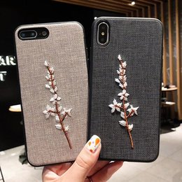 $enCountryForm.capitalKeyWord Australia - Wholesale Embroidered phone cases for iphone 8plus x xs max creative plum samsung galaxy S8 NOTE8 personality all-inclusive protective cover