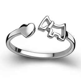factory rings NZ - Silver plated heart shaped love fashion cute horse ring opening vintage jewelry rings factory wholesale