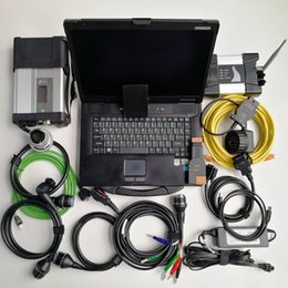 Venta al por mayor de Juego completo Auto Diagnosis herramienta Escáner para BMW Wifi Icom Siguiente + MB Star C5 SD conectar C5 + CF52 I5 4G computadora portátil usada Toughbook + 1TB SSD