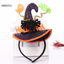 Headbands Hair Hat Australia - New Halloween Spider Hat Witch Hat Headband Ghost Bat Hair accessories Decoration Adult Children's Role play Headwear
