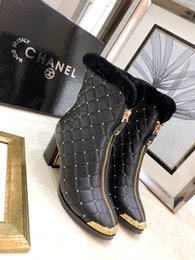 plaid design NZ - New Luxury Women's Shoes Fashion Design Brand Sexy Slim Winter Women's Boots Height To The Calf High Heel Plaid Gold Embellished