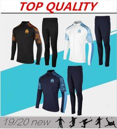 Wholesale man polyester suit for sale - Group buy 2020 Olympique de Marseille tracksuit soccer training suit Maillot De Foot PAYET THAUVIN OM Football jacket jogging tracksuit