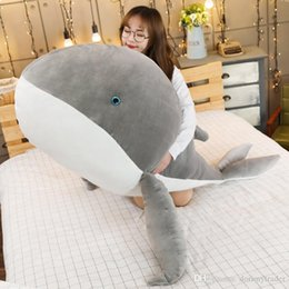 cartoon dolphin toy Australia - Big Animal Whale Plush Toy Cartoon Dolphin Doll Blue Whale Pillow for Children Girl Gift Decoration 59inch 150cm DY50717