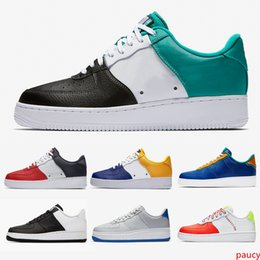 cheap leisure shoes for men NZ - Cheap 1 Neptune Green casual shoes customs Indigo FC Barcelona Obsidian Skeleton Leather sneaker for man and Women Leisure Sneakers