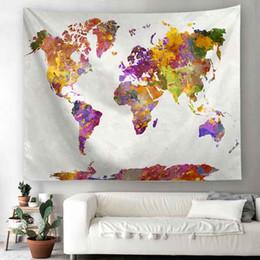 $enCountryForm.capitalKeyWord Australia - World Map Tapestry Wall Hanging Decor Mat Carpet Home Decor Bedspread Throw
